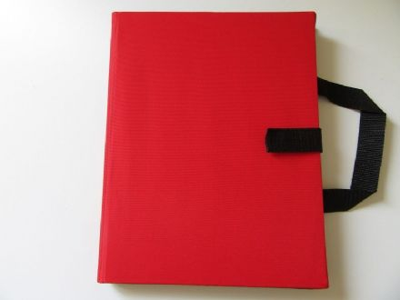 A4 Communication Book: 16 Pocket Pages - Red